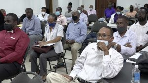A section of those present at the Ministry and Department of Agriculture's Fourth Quarter Presentation at the St. Paul's Anglican Church Hall on October 06, 2020