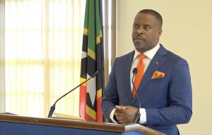 Hon. Mark Brantley, Premier of Nevis at his monthly press conference in the Nevis Island Administration's Cabinet Room at Pinney's Estate on October 29, 2020