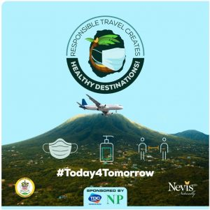 "The banner unveiled at the launch of the joint health/tourism ""Today4Tomorrow"" campaign at the St. Paul's Anglican Church Hall on October 13, 2020"