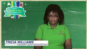 Ms. Tricia Williams, President of the Nevis Teachers Union