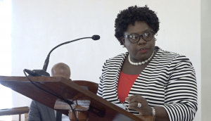 Hon. Hazel Brandy-Williams, Junior Minister of Health in the Nevis Island Administration making her presentation at a sitting of the Nevis Island Assembly on November 05, 2020