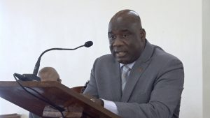 Hon. Alexis Jeffers, Deputy Premier of Nevis and Minister of Lands and Housing addressing the Nevis Island Assembly on November 05, 2020
