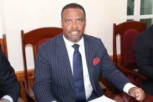 Hon. Mark Brantley, Premier of Nevis and Minister of Finance at the Nevis Island Assembly's Chambers at Hamilton House (file photo)