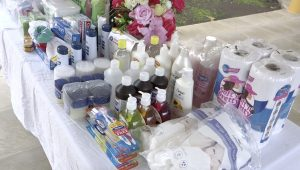 Some of the personal care items donated to the residents of the Flamboyant Nursing Home by the Concerned Citizens Movement Women's Arm on November 10, 2020