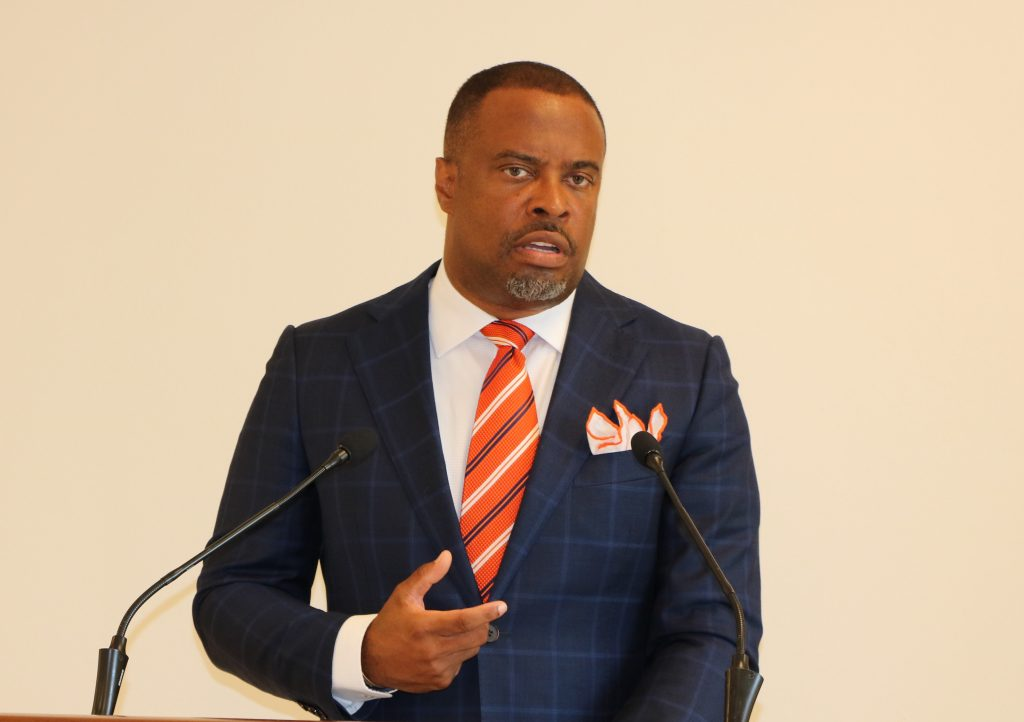 Hon. Mark Brantley, Premier and Minister of Health in the Nevis Island Administration (file photo)