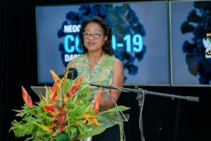 Dr. Hazel Laws, Chief Medical Officer of St. Kitts and Nevis, and member of the National COVID-19 Task Force