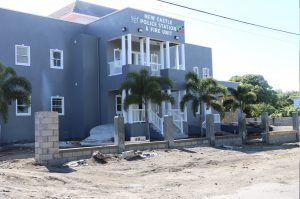 Last minute preparations ongoing at the site of the Newcastle Police Station and Fire Unit along the Island Main Road in Newcastle on November 26, 2020, ahead of its December 03 official opening