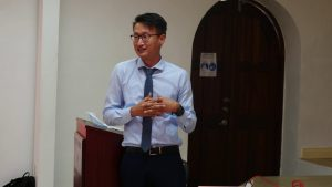 William Chen, technical expert from the Republic of China (Taiwan) assisting St. Kitts and Nevis with the early intervention of non-communicable diseases