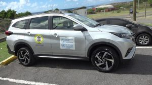 The new Toyota Rush SUV donated to the Ministry of Health in the Nevis Island Administration by the Pan American Health Organization on December 11, 2020