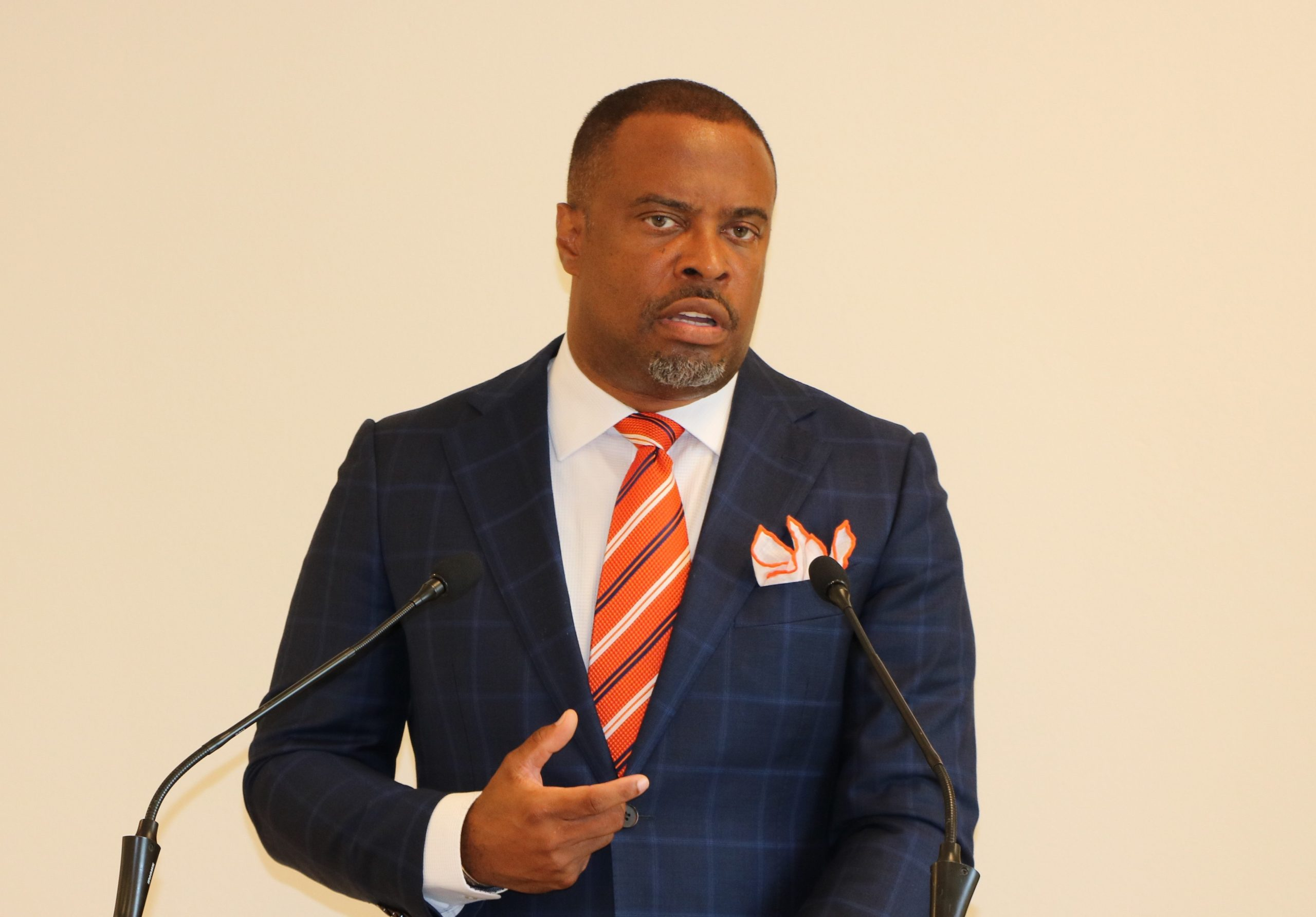 Hon. Mark Brantley, Premier of Nevis and Minister of Foreign Affairs in the government of St. Kitts and Nevis (file photo)
