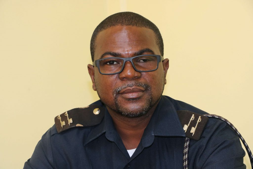 Mr. Roger Fyfield, Assistant Comptroller attached to the Customs and Excise Department, Nevis Division, at the Department of Information on December 14, 2020