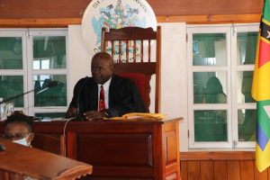 Hon. Farrel Smithen, Speaker of the Nevis Island Assembly during the delivery of the Budget Address by Hon. Mark Brantley, Premier of Nevis and Minister of Finance at  a sitting of the Assembly on December 08, 2020