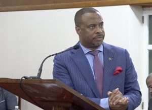 Hon. Mark Brantley, Premier of Nevis and Minister of Finance in the Nevis Island Administration at a recent sitting of the Nevis Island Assembly at Hamilton House