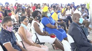 Parents and well-wishers in attendance at the Charlestown Secondary School 2020 Graduation Ceremony at the Nevis Cultural Village on December 08, 2020
