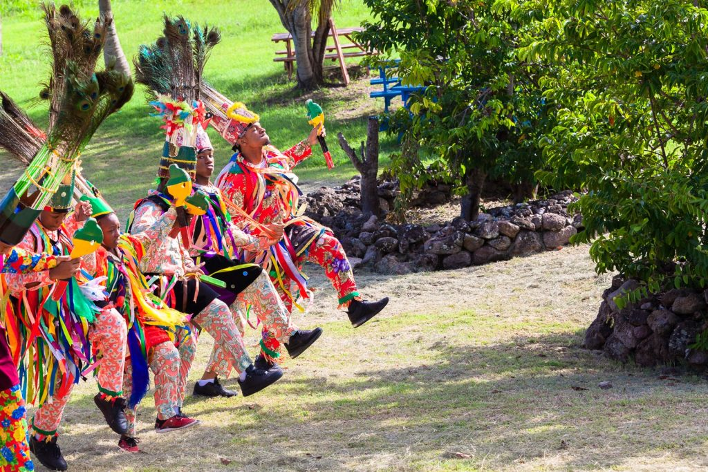 Nevis Masquerade dancers (photo provided)