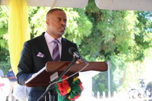Hon. Mark Brantley, Premier of Nevis and Minister of Finance in the Nevis Island Administration at the commissioning ceremony for the new multimillion-dollar New Castle Police Station and Fire Unit on December 03, 2020