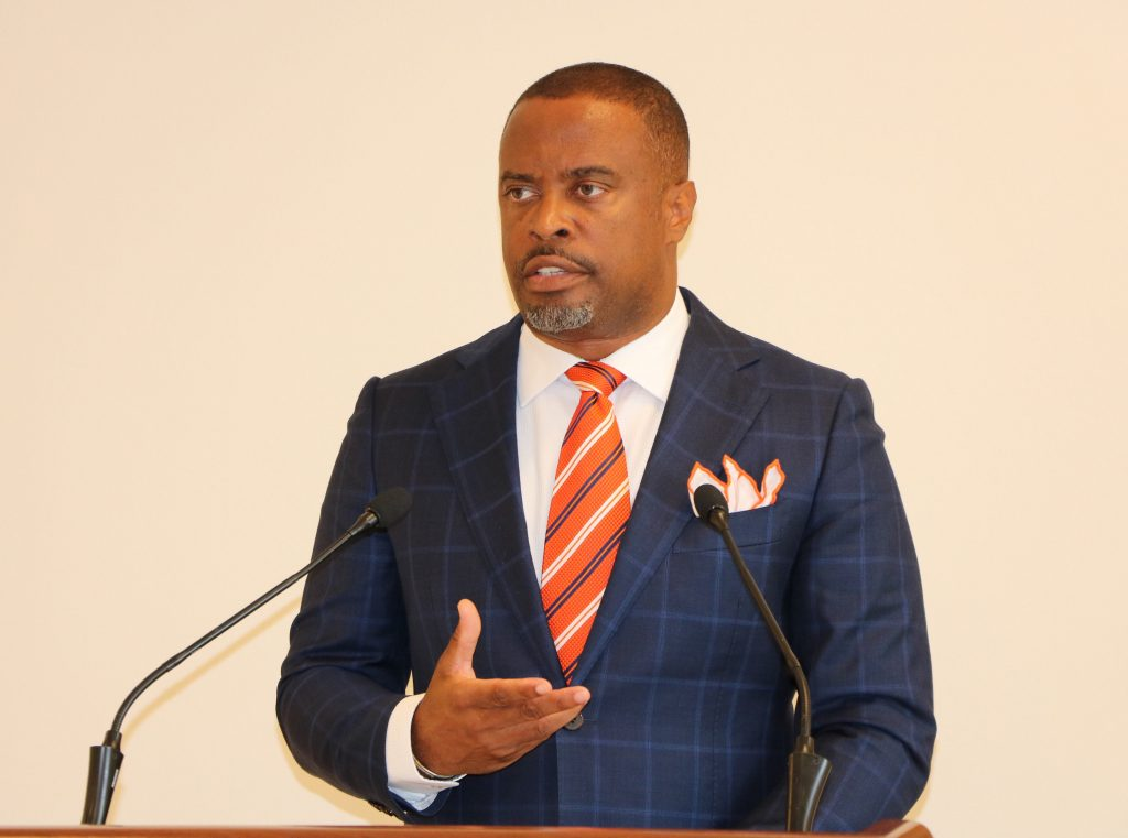 Hon. Mark Brantley, Premier of Nevis and Minister of Finance in the Nevis Island Administration (file photo)