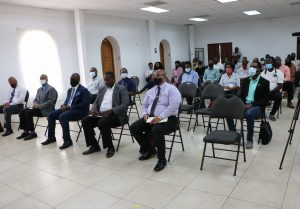 Cross section of the audience in attendance remarks at the Department of Agriculture's Agenda 2021 forum on January 19, 2020 at the St. St. Paul's Anglican Church Hall, Charlestown