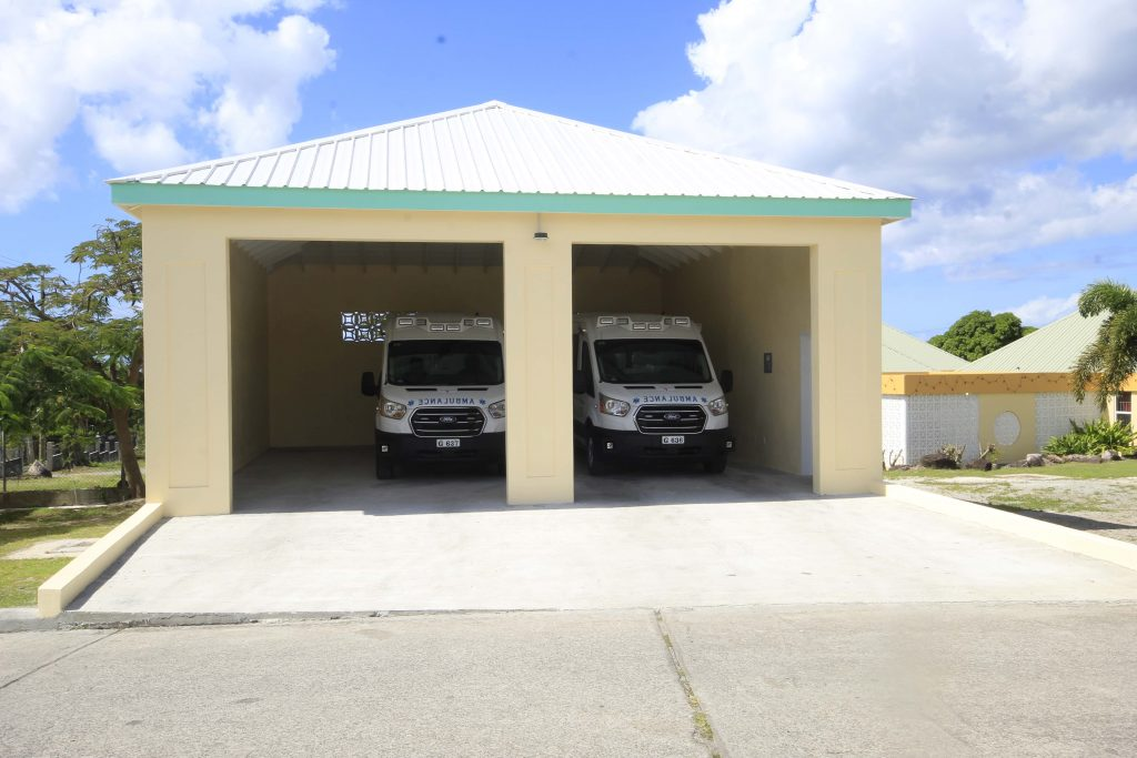 Two state-of-the-art ambulances at the Alexandra Hospital grounds on Government Road on January 22, 2021