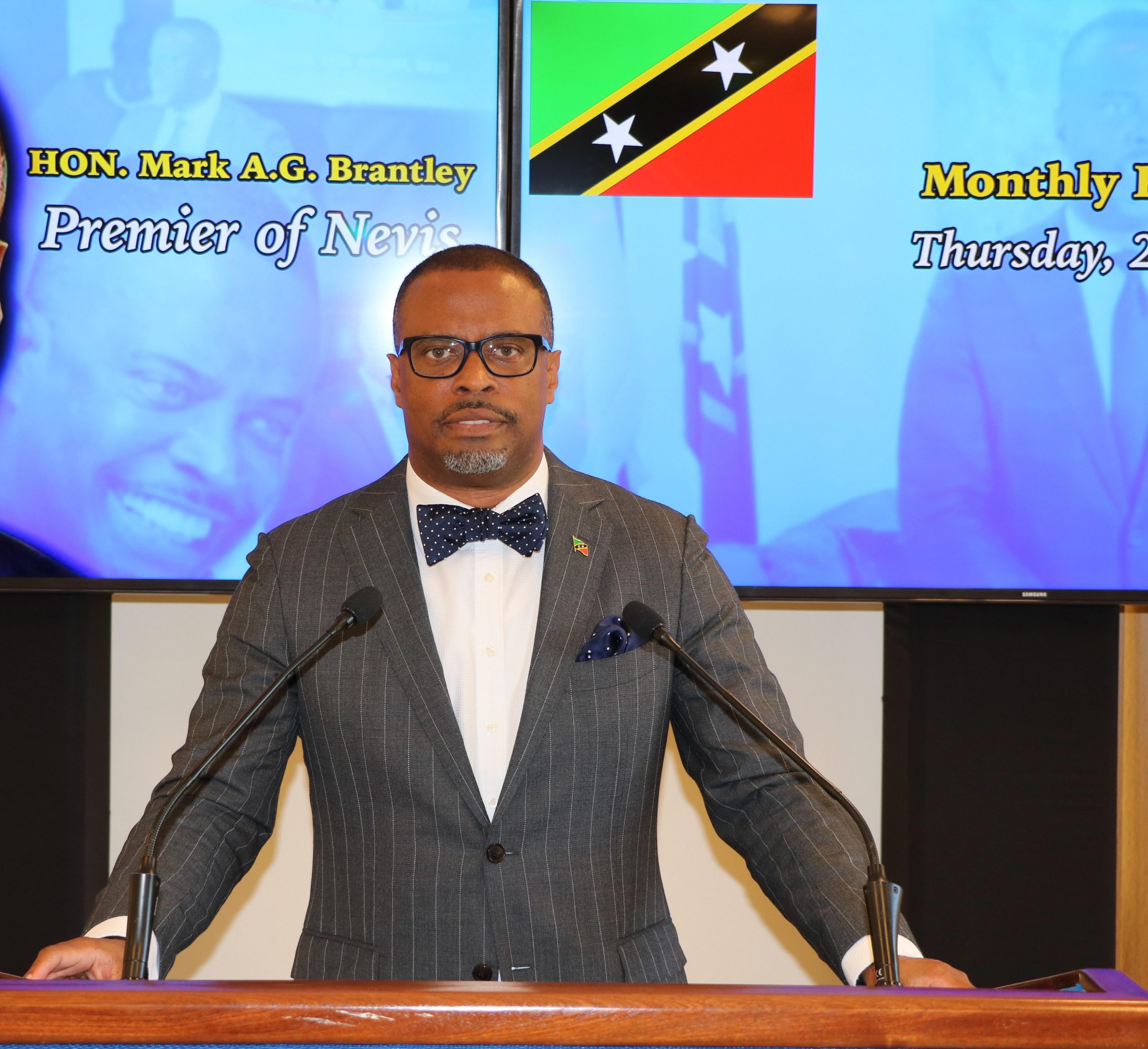 Premier of Nevis, Hon. Mark Brantley, Minister of Finance, Foreign Investments and Tourism in the Nevis Island Administration
