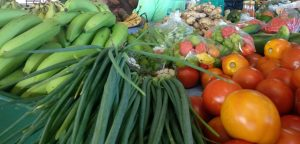 Produce grown by farmers on Nevis (file photo)