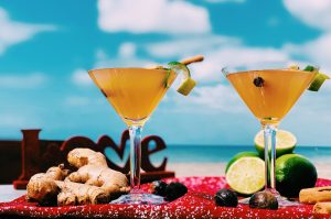 The Nevisian Kiss, a signature cocktail with aphrodisiac properties to inspire love and romance on Valentine's Day on February 14, 2021, created by Mr. Kremour Maloney, an award-winning Nevisian mixologist, (photo provided)