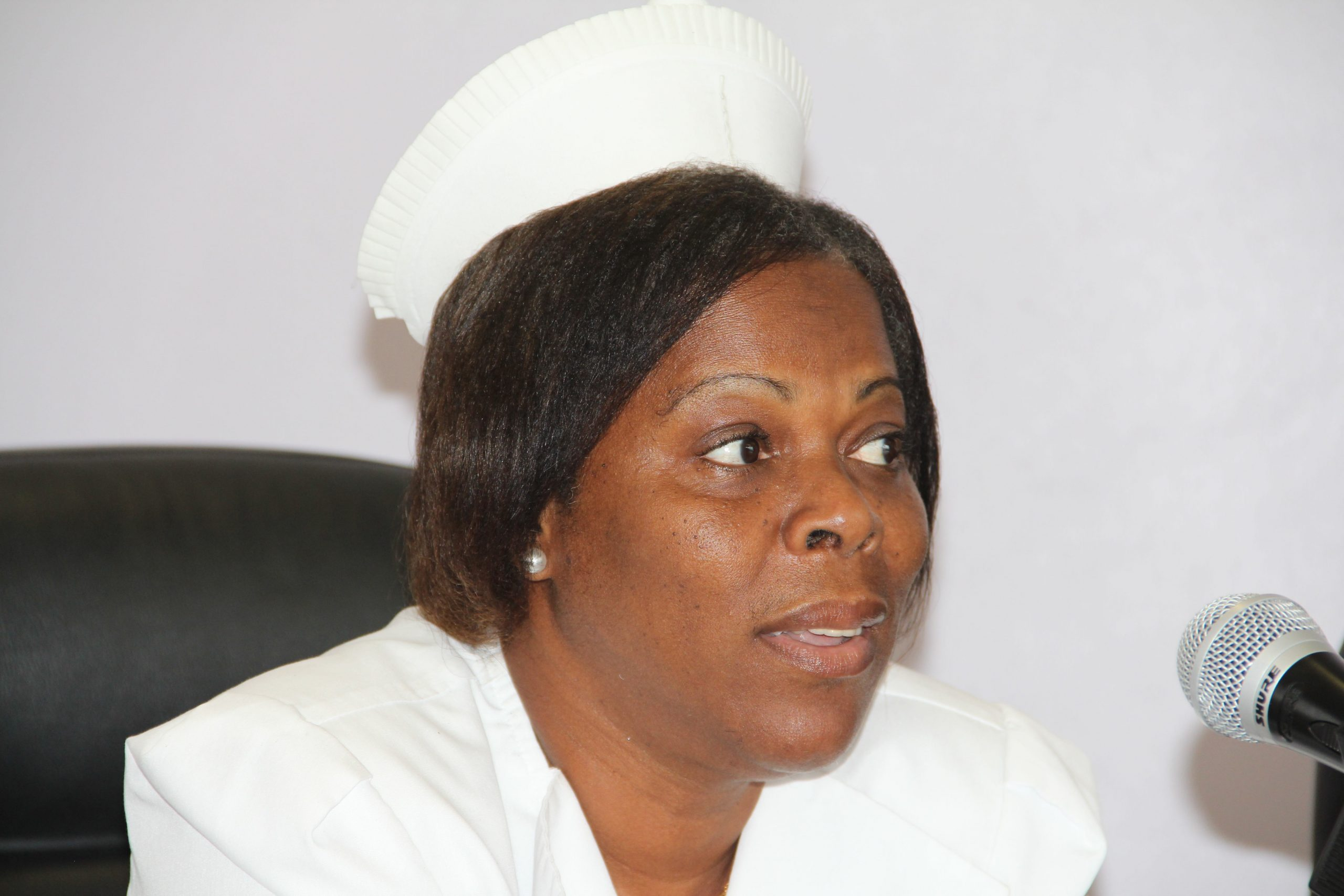 Mrs. Aldris Dias, Matron of the Alexandra Hospital (file photo)
