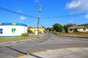 A section of Pump Road from the roundabout on the Island Main Road on February 04, 2021, slated for resurfacing by the Public Works Department