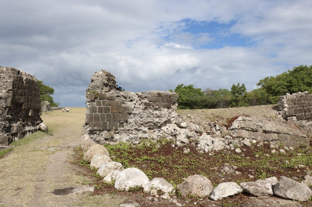 Some of the walls at Fort Charles