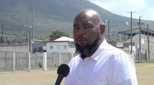 Mr. Huey Sargeant, Permanent Secretary in the Ministry of Agriculture on Nevis at the Villa Grounds in Charlestown on March 19, 2021, the venue for Agrofest on March 26
