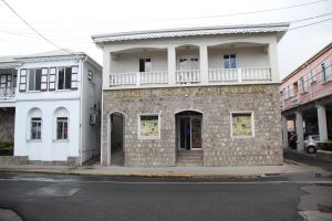 The Nevis Water Department's new location from March 16, 2021, the Edith L. Solomon Building on the Island Main Road in Charlestown