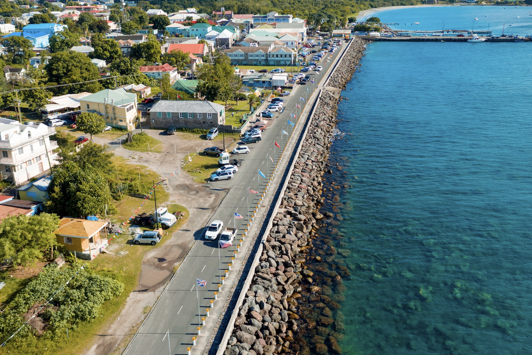 A section of Charlestown the capital of warm and friendly Nevis where the Caribbean Sea laps at her doorstep (photo provided)