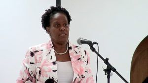 Dr. Judy Nisbett, Medical Officer of Health in the Nevis Island Administration