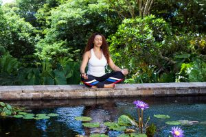 Meditating somewhere on Nevis (Photo provided)