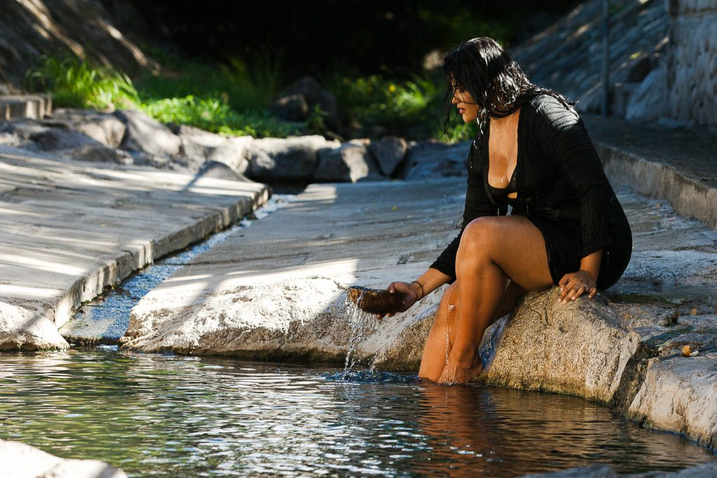 At the therapeutic Hot Springs in Nevis (photo provided)