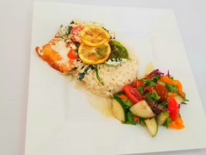 Lazy Man's Dinner by Ms. Marcella Browne who placed third place in the Ministry of Tourism's first Creative Seafood Dish Competition on May 03, 2021