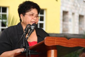 Mrs.  Evelyn Henville, Chairman of the Nevis World Heritage Committee (file photo)