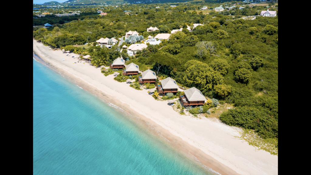 Arial view of Paradise Beach Villas on Nevis (photo provided)