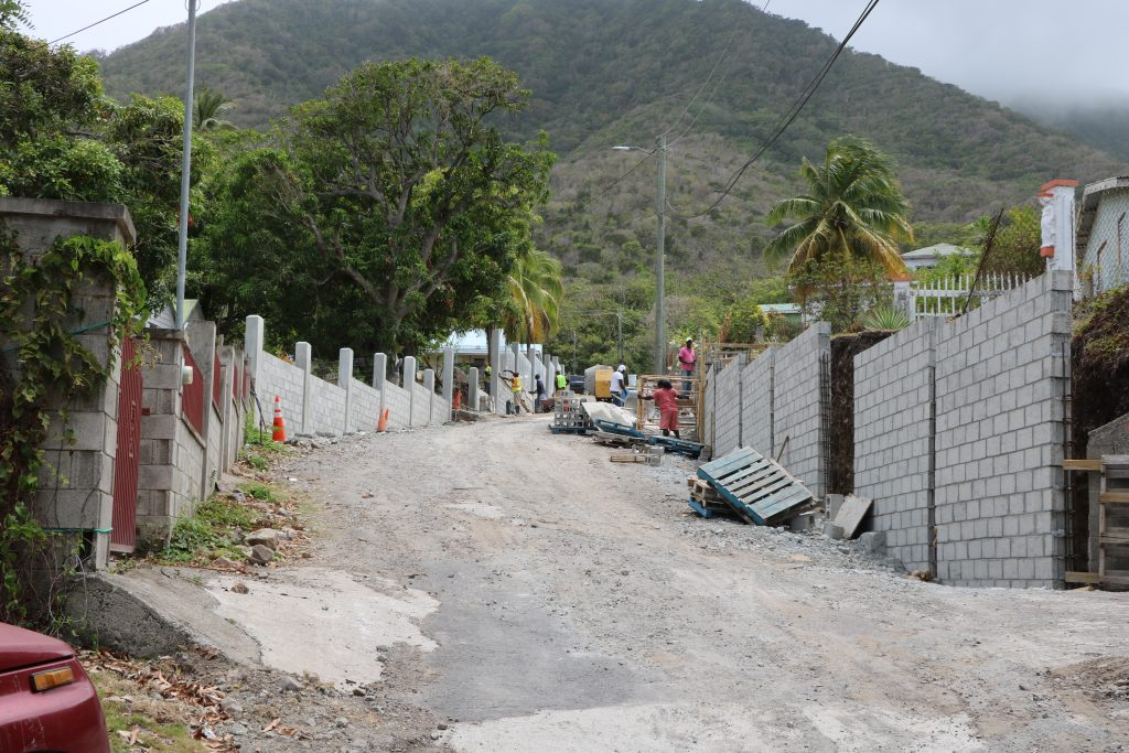 Ongoing work on the Butlers Road Rehabilitation and Restoration Project on July 12, 2021