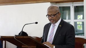 Hon. Spencer Brand, Minister of Public Works in the Nevis Island Administration at the Nevis Island Assembly on July 13, 2021