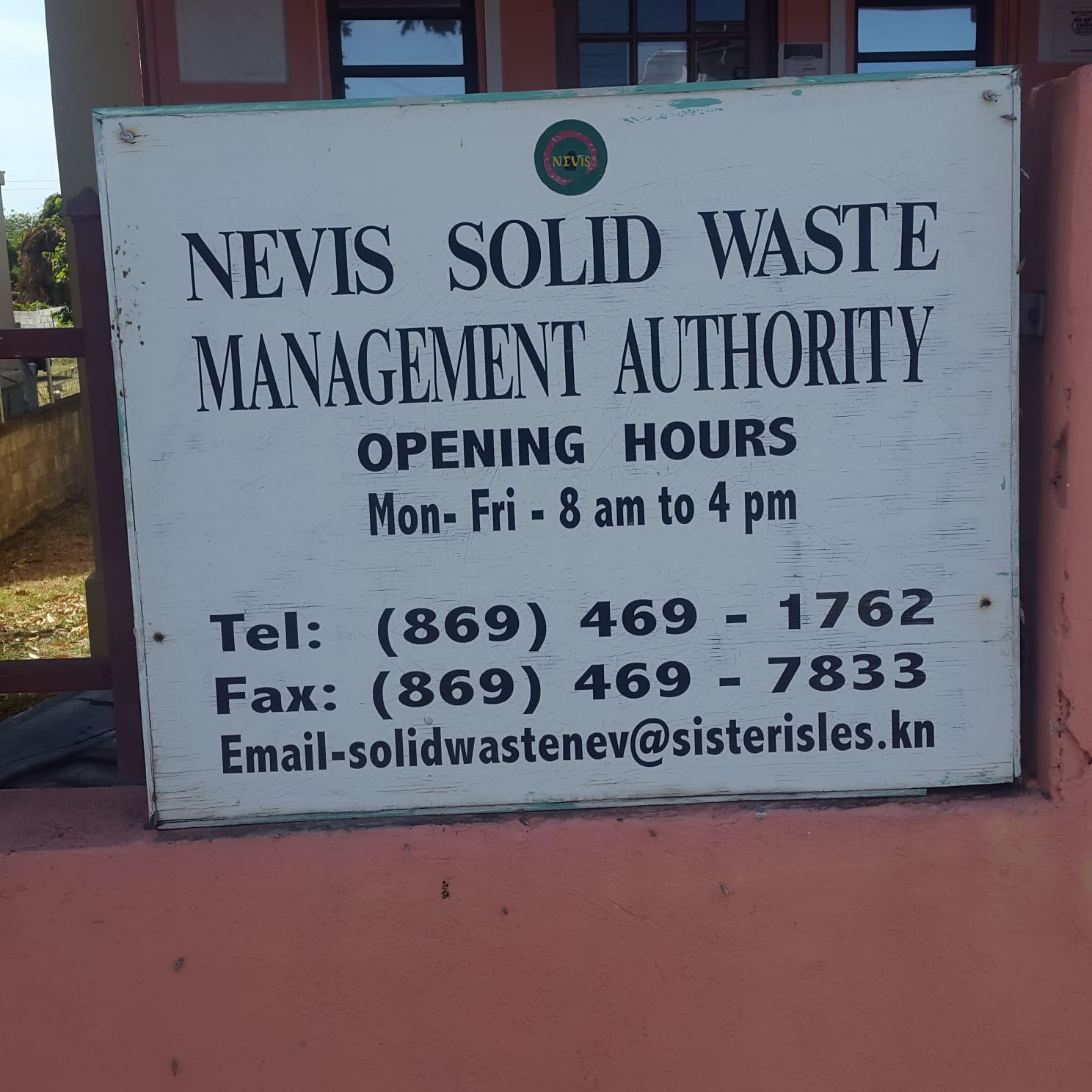Nevis Solid Waste Management Authority's offices in Ramsbury