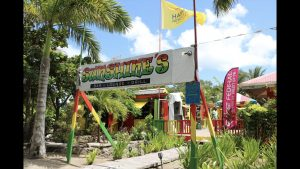 Sunshine's Beach Bar and Grill at Pinney's Beach one of the establishments participating the Nevis Health Promotion Unit's free condom initiative to fight against HIV and other sexually transmitted infections