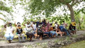 School principals, deputies and supervisors of public schools on Nevis at the Nevisian Heritage Village at Fothergills Estate in Gingerland on August 27, 2021, while on an islandwide tour organised for them by the Ministry of Education