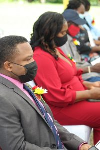 Mr. Troy McKoy and his wife in attendance at the awards ceremony at Government House on September 20, 2021, on the occasion of the 38th Anniversary of Independence of St. Christopher and Nevis