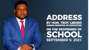 Hon. Troy Liburd, Junior Minister of Education in the Nevis Island Administration