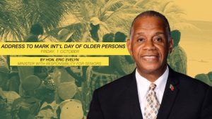 Hon. Eric Evelyn, Minister responsible for seniors in the Nevis Island Administration
