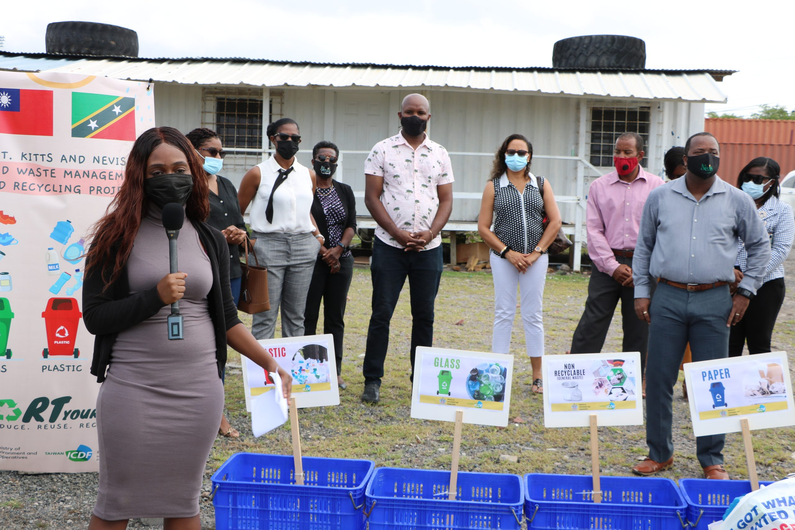 Ms. Jadine Yarde, Chief Executive Officer of the Nevis Tourism Authority launching the Sustainable Project at Long Point on October 13, 2021